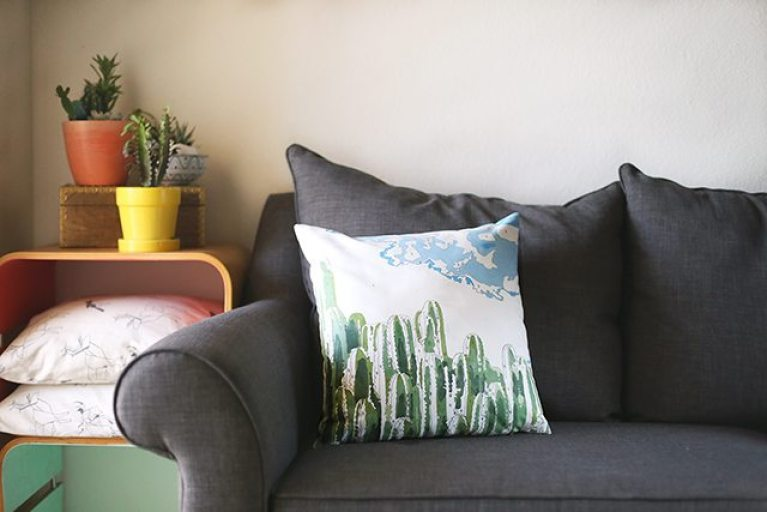 DIY Paint by Numbers pillow by Shrimp Salad Circus