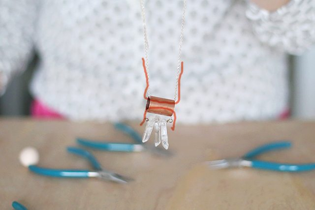 DIY Copper and Crystal Necklace - Step 6