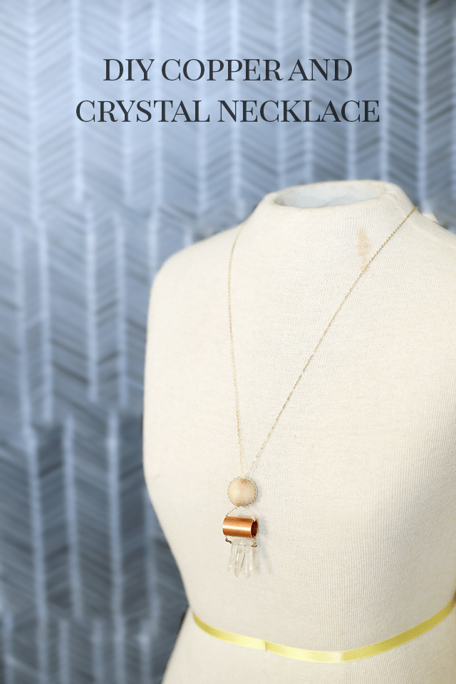 DIY Copper and Crystal Necklace