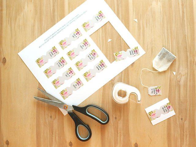 Floral Free Printable Tea Bag Tags - Shrimp Salad Circus