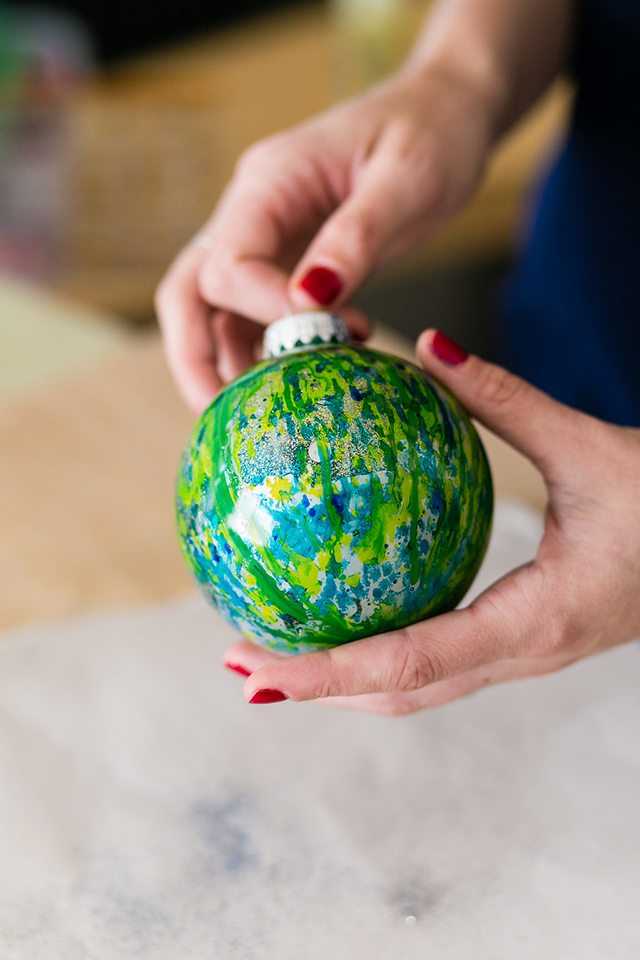 DIY Galaxy and Planet Christmas Ornaments - Step 7