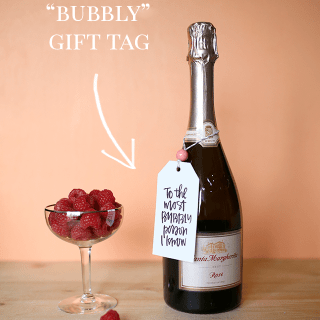Free Printable Gift Tags for Bubbly and Bubbles