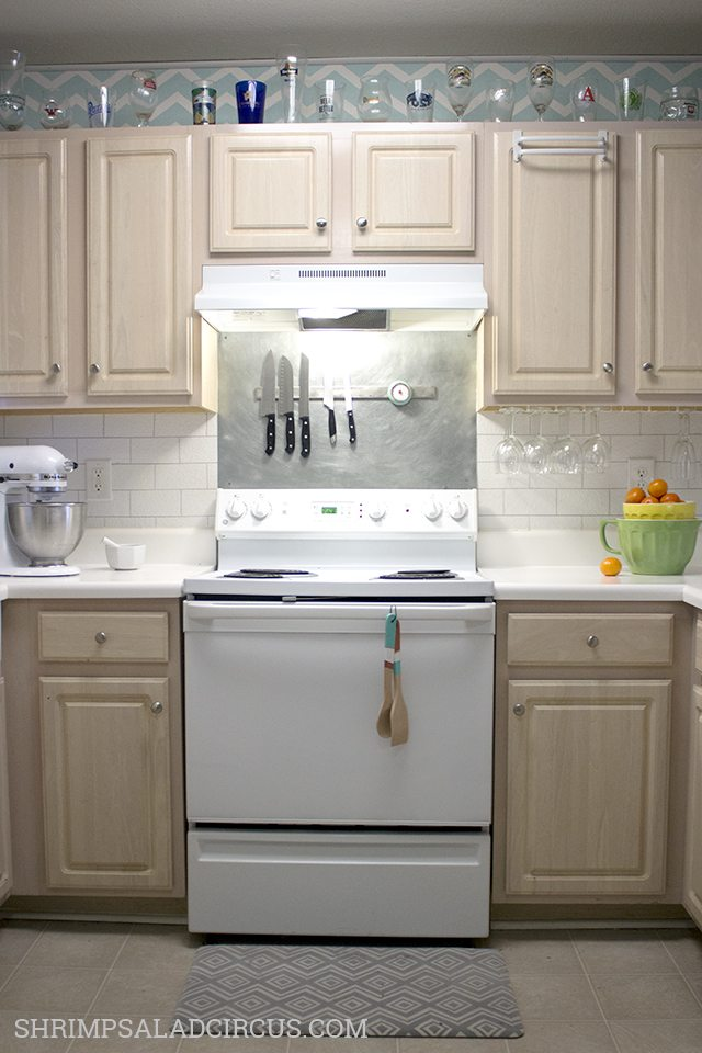 Nice Painted Faux Subway Tile Backsplash DIY Kitchen Backsplash Ideas Shrimp Salad Circus