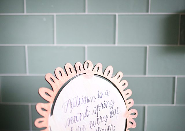 DIY Autumn Quote Sign
