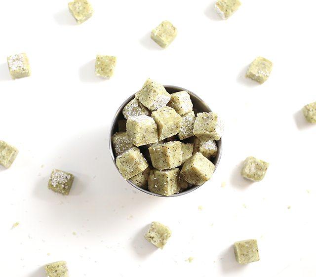 DIY Matcha Green Tea Sugar Scrub Cubes - All Natural Bath Scrub