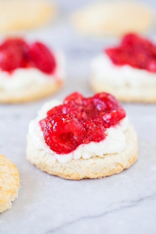 Raspberry Shortcake Recipe From Scratch - Adding the Raspberries