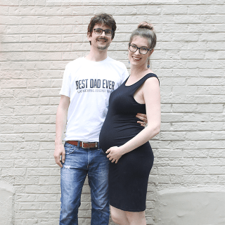 Retro DIY Father's Day Tee Shirt for an Expecting Dad