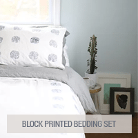 IKEA Hacks - Block Printed Bedding Set