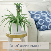 IKEA Hack - Faux Metal Wrapped Stools