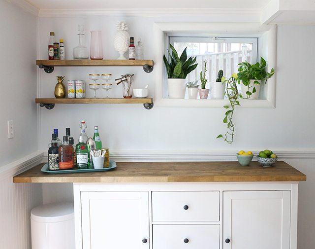 IKEA Hacks - DIY Bar Cabinet & Kitchenette - Shrimp Salad Circus