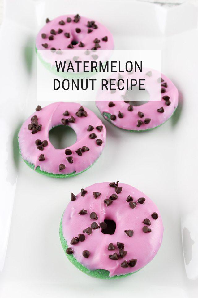 Watermelon Donut DIY Recipe