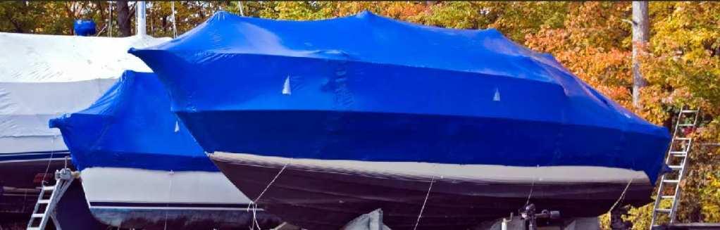 Hivernage et protection Shrink du bateau