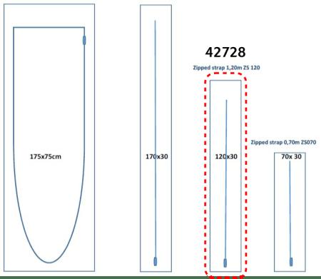 Porte zippée Réf. 42728 i-120-30