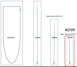 Porte zippée Réf. 42729-i-70-30