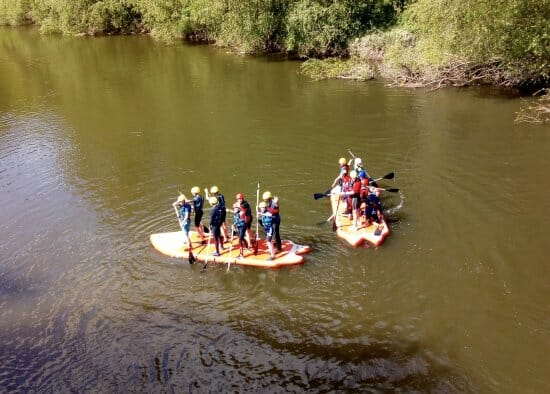 Mega SUP Hire activities with Shropshire Raft Tours