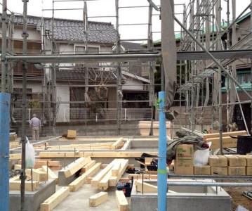 土台敷き完了。週末の建て方に向けて準備万端 | 足立区S邸