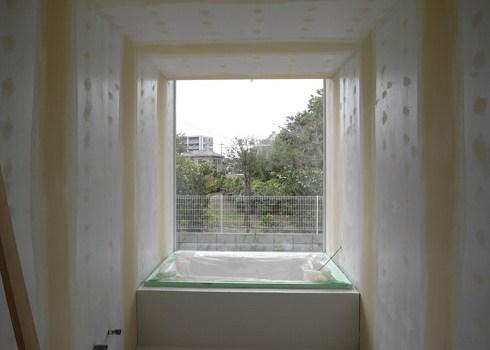 バスルームの塗装下地