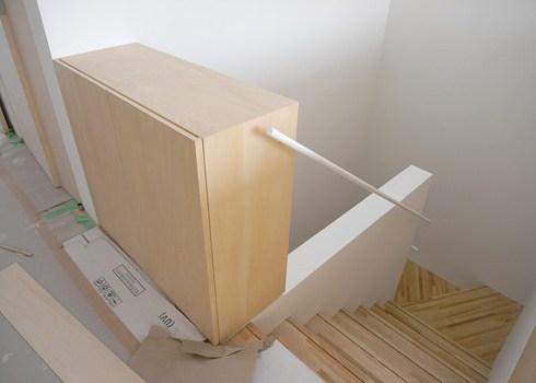 家具と階段手摺