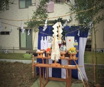 取手市 (茨城県)で着工する住宅の地鎮祭です | ゆめみ野の家
