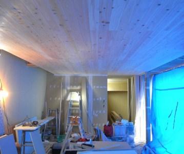 縁甲板 張りのリビング天井がとても良い表情! | ゆめみ野の家
