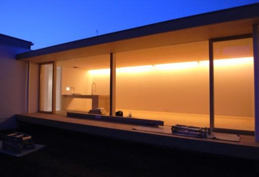 ゆめみ野の家のリビングの間接照明