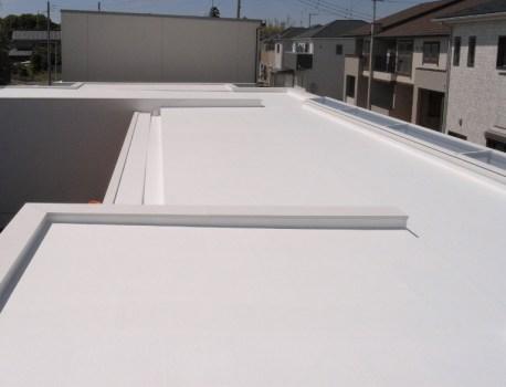 トップコート が完了。屋根の仕上がりを確認しました