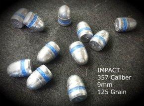 Impact 200 Qty 357 Caliber 125 Grain Round Nose Air Rifle Bullets Pellets