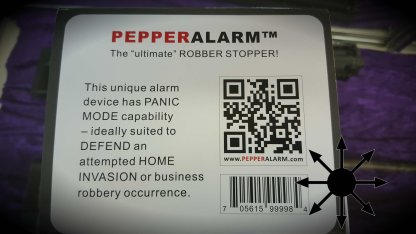 Pepper Spray Alarm System with remote controls