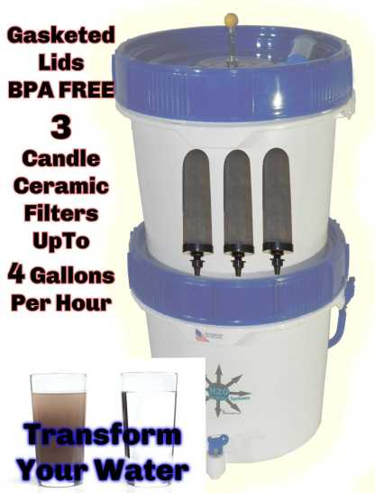 Gravity Well Ultra Emergency Water Filter Paracord Information Graphic