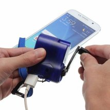 Travel USB Hand Crank Dynamo Phone Charger with Light