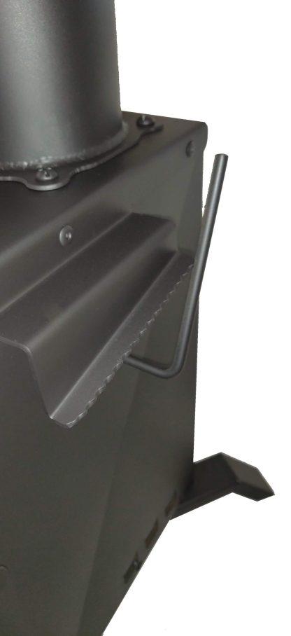Bullet Proof RPG Rocket Heater Wood Stove Internal Damper