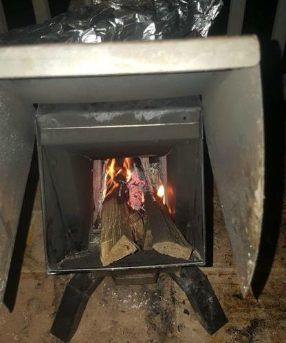 Bullet Proof Rocket Stoves RPG Gasifier Rocket Stove and Heater Burning Wood