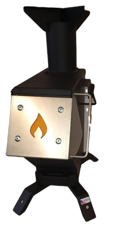 2021 Bullet Proof Rocket Stove Front View
