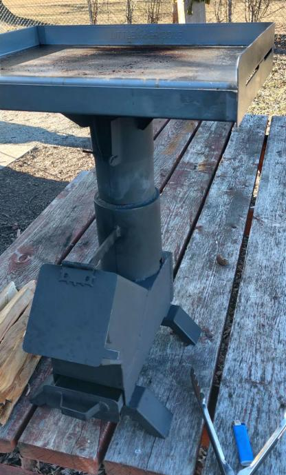 Griddle Me That for 50BMG Rocket Stove and RPG Rocket Stove