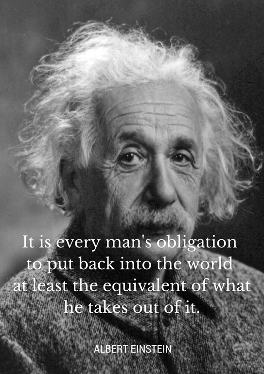Einstein - Joy of Giving