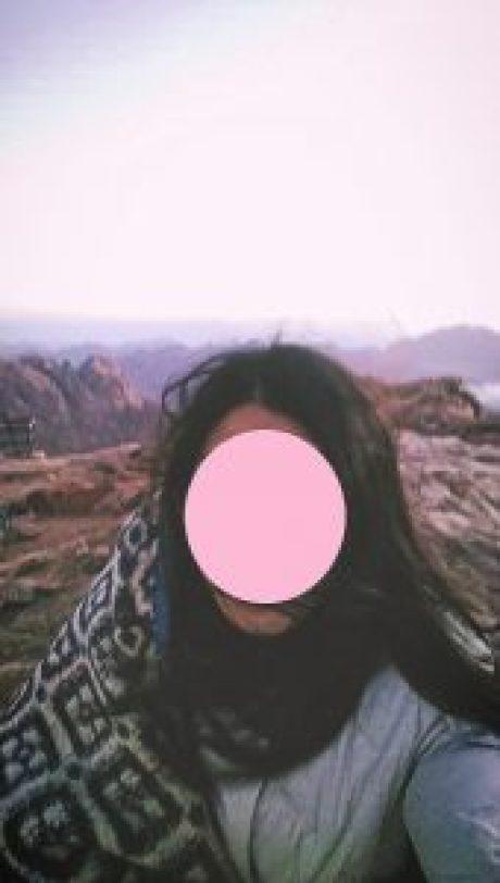 ▲寒風刺骨之際,勉強拿出手機在西奈山上拍張奇蹟美照