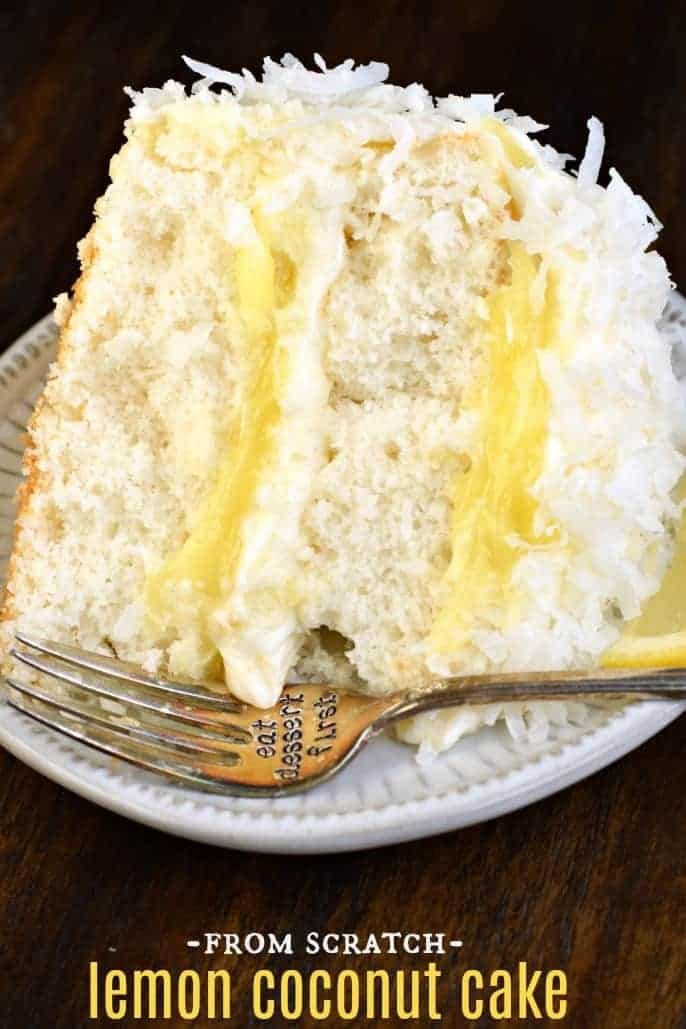 The Best From Scratch Lemon Coconut Cake Recipe