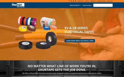 Shurtape® Brand Website – Shurtape.com – Gets a Facelift