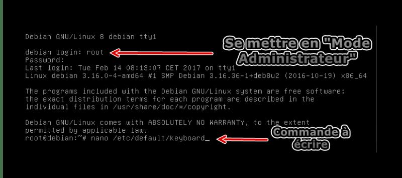 Edition de keyboard en mode Administrateur