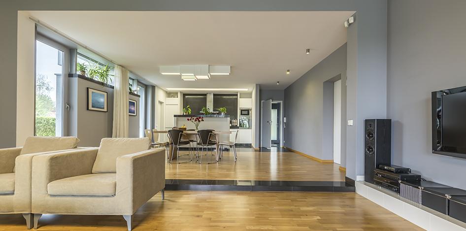 Open Plan Living Bespoke Room Dividers On Shutter Tracks