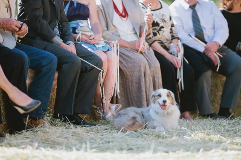 Guests Attend A Rustic Wedding