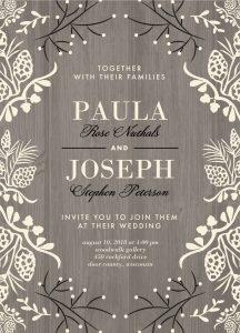 Inspirational Winter Wedding Invitations Shutterfly