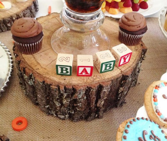 Baby Boy Baby Shower Alphabet Blocks