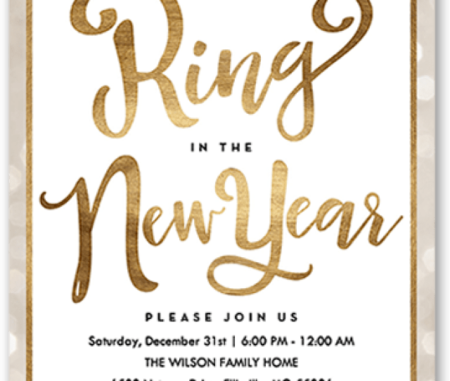 Confetti New Years Eve Party Invitation