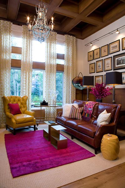 How To Add Color A Brown Living Room