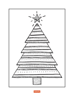coloring pages christmas tree # 52