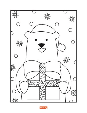 christmas coloring book pages # 29