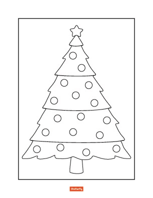 christmas trees coloring pages # 46