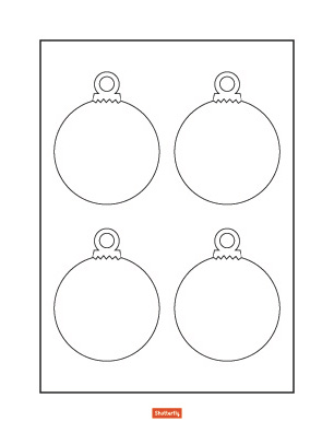 christmas ornament coloring page # 6