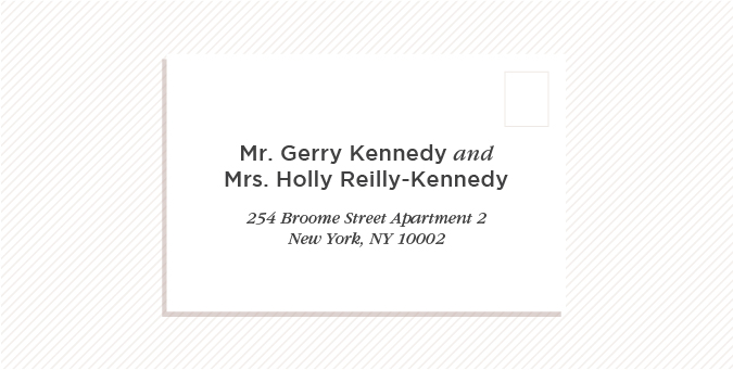 To A Married Couple Hyphenated Last Name